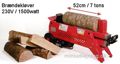 Brændekløver 7 tons